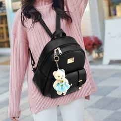 Tiane - 套裝: 仿皮背包 + 信封手包