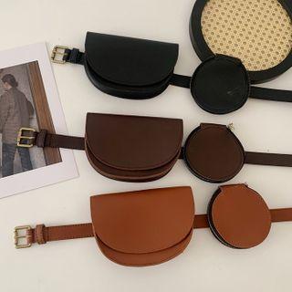 Lunashore - Faux Leather Belt Bag