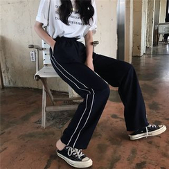 Kojasmine - Striped Side Sweatpants