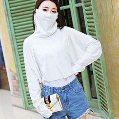 Dreamaway - Plain Sun Protection Long-Sleeve Top with Mask