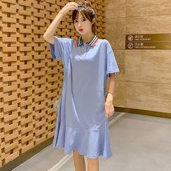 Hiccup - 孕妇短袖A字马球连衣裙