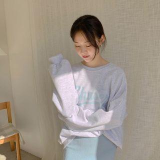 CHERRYKOKO - 'Chaser' Letter Cotton Sweatshirt