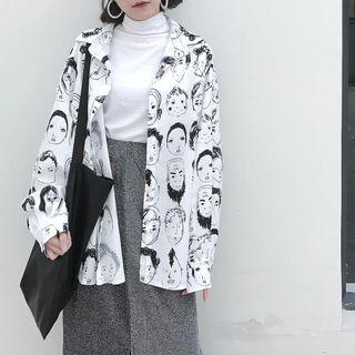 LINSI - 印花长袖衬衫 / 高领长袖上衣 / 纯色中裙