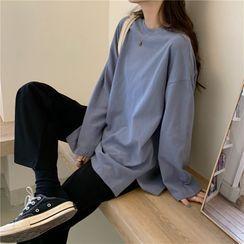 CaraMelody - Long-Sleeve Plain T-Shirt