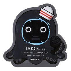 TONYMOLY - Tako Pore Charcoal Clear Mask Pack