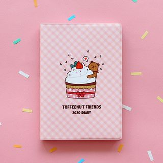 BABOSARANG - 'TOFFEENUT FRIENDS' 2020 Illustration Weekly Planner (S)