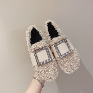時尚麥樂 - 水鑽毛毛輕便鞋