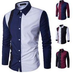 Fireon - Long-Sleeve Contrast-Panel Shirt