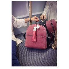 Merlain - Tassel Faux-Leather Backpack
