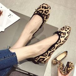 Alisse(アリッセ) - Leopard Print Flats