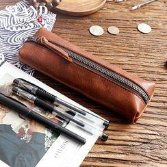 Wavecho - Faux Leather Pencil Case