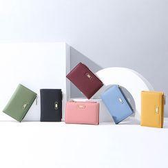 Regalia - Faux Leather Short Wallet