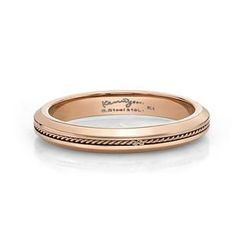 Kenny & co.(ケニー&co.) - IP Rose Gold Lace Ring