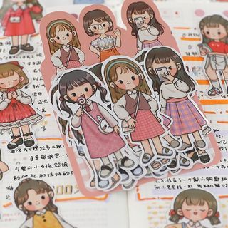 Katiz - Cartoon Boys & Girls Stickers  ( Various Designs )