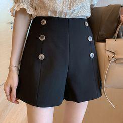 Little V - Button Detail Shorts