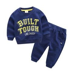 Seashells Kids - Kids Set: Lettering Sweatshirt + Sweatpants