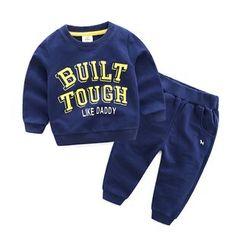 贝壳童装 - 儿童套装: 字母卫衣 + 运动裤