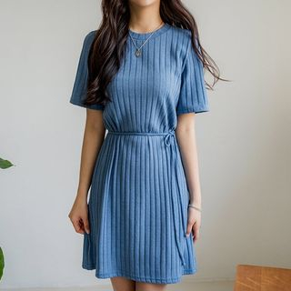 Envy Look - Short-Sleeve Rib-Knit Dress