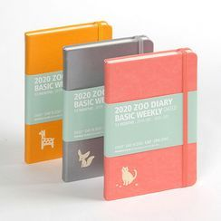 BABOSARANG - 2020 Banded Animal-Printed Weekly Planner (S)