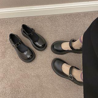 時尚麥樂 - 踝帶厚底瑪莉珍鞋