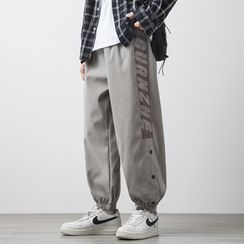 Groove Tower - Lettering Harem Sweatpants
