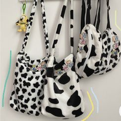 Anchara - Furry Animal Print Tote Bag / Belt Bag