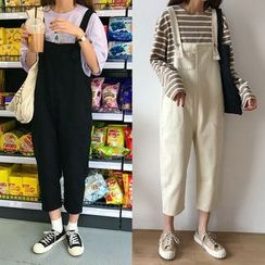 Jolly Club - Cropped Pinafore Jumpsuit