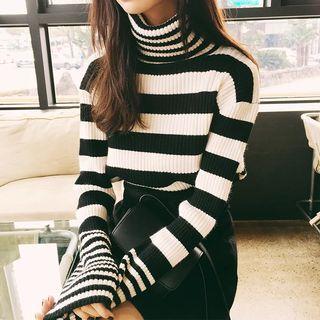 Ikas - Turtleneck Striped Sweater