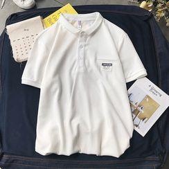 KimKlose - 中袖字母标签马球衫