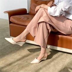MONOBARBI - Pointy-Toe Wedge-Heel Mules
