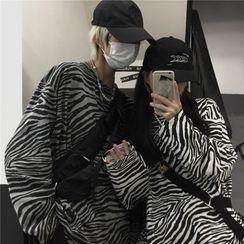Sevilla(セビージャ) - Couple Matching Long-Sleeve Zebra Print T-Shirt