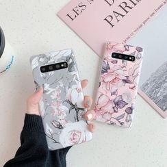Quivier - Floral Print Phone Case - Samsung S20 / S20 Plus / S20 Ultra / S10 / S10 Plus / S10E / S9 / S9 Plus / S8 / S8 Plus