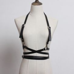 CIENIS - Faux Leather Body Harness
