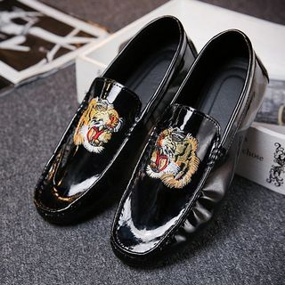 MARTUCCI - Tiger Embroidered Loafers