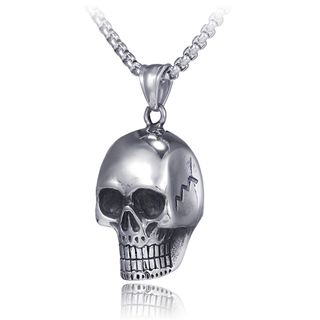 Prushia(プルシア) - Stainless Steel Skull Pendant Necklace