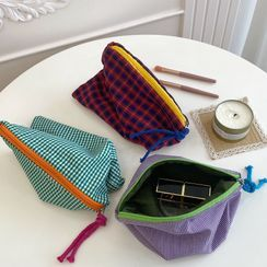 Intimo - Travel Plaid Makeup Pouch