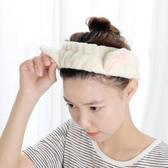 Yulu - Chenille Cat Ear Face Wash Headband