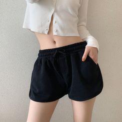 Chisan - High-Waist Hot Pants