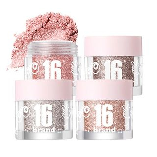 16brand - 16 Candy Rock Pearl Powder (4 Colors)