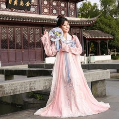 Pinocle(ピノクル) - Long-Sleeve Embroidered Traditional Chinese Costume Set