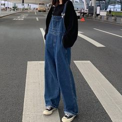 Gaika - 宽腿牛仔背带裤