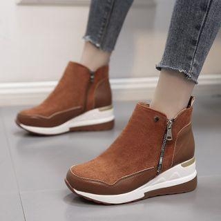Weiya - Ankle Boots Platform Slip-Ons