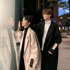 Bay Go Mall - Couple Matching Applique Midi Coat