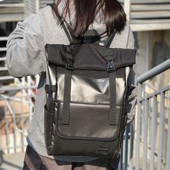 SUNMAN(サンマン) - Plain Snap Buckle Laptop Backpack