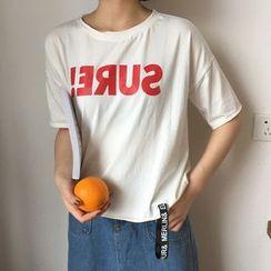 AMELA - 字母短袖T恤