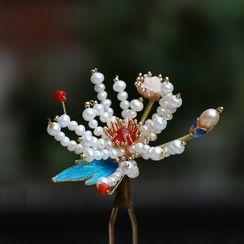 Kanzashi - Retro Flower Flower Hair Stick