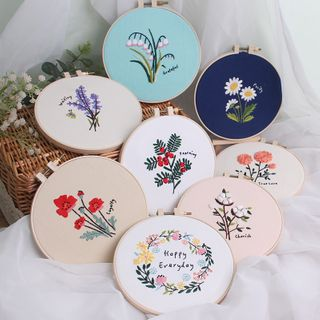 Anffleur - Flower Embroidery DIY Kit
