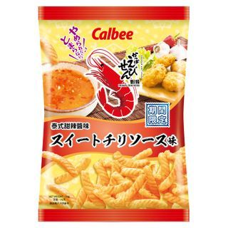 Calbee - [Limited]Thai Sweet Chilli Sauce Flavoured Prawn Crackers 75g