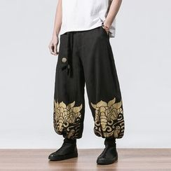YIKES - Print Wide-Leg Pants