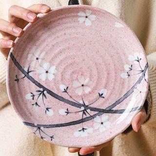 Choyce - Pink Cherry Blossom Ceramic Bowl / Saucer